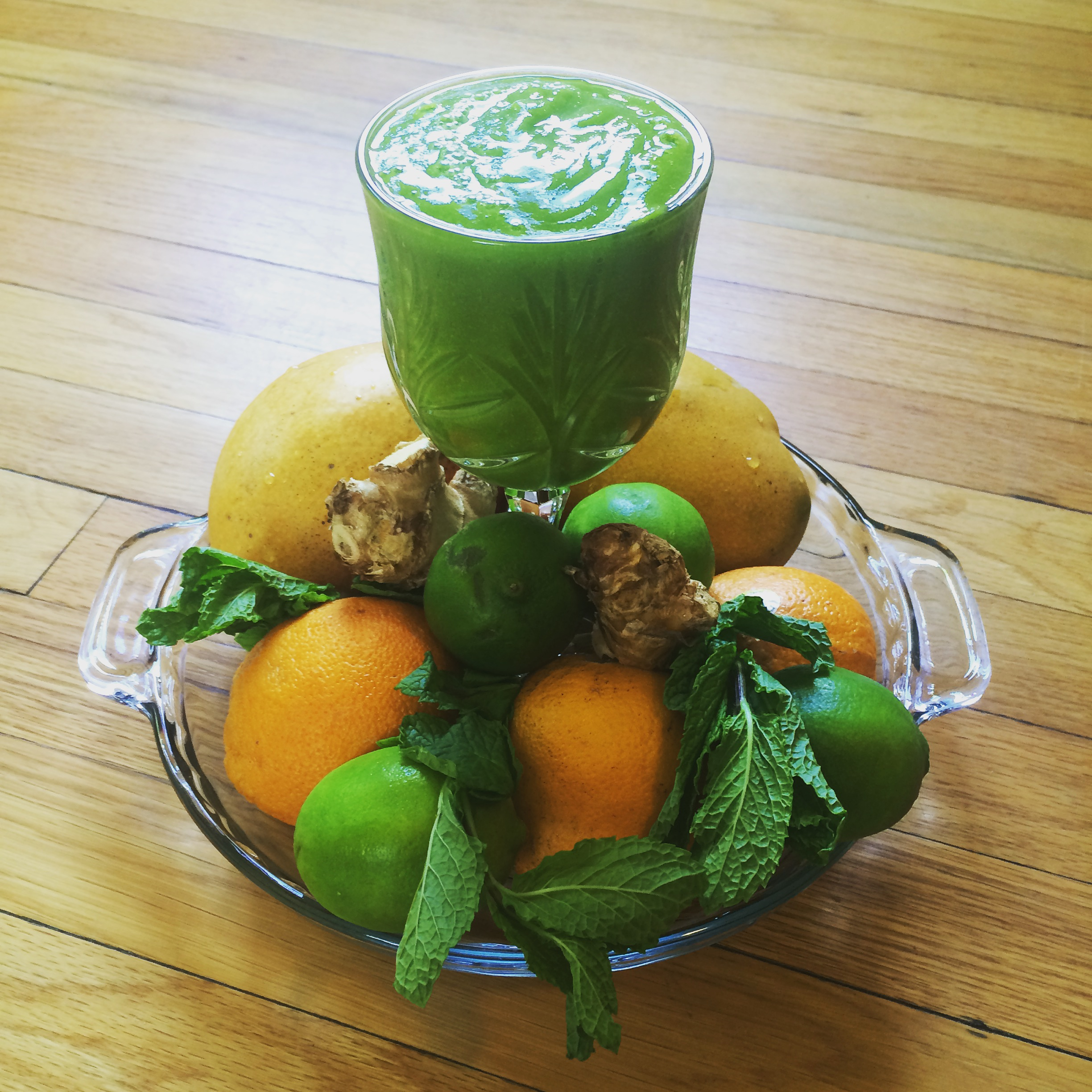 Spinach, Lime, Ginger Smoothie